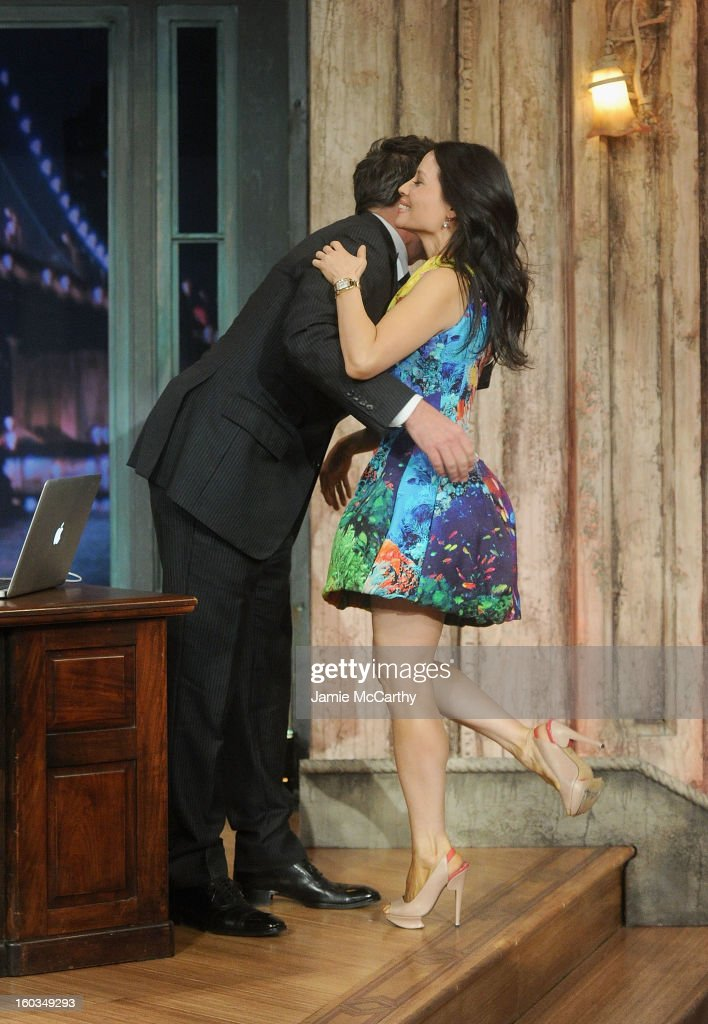 Actress Lucy Liu and host Jimmy Fallon visit 'Late Night With Jimmy Fallon' at Rockefeller Center on January 29, 2013 in New York City.