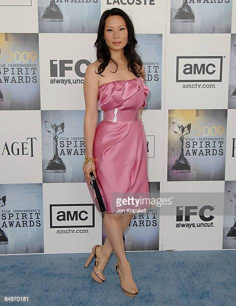 Actress Lucy Liu arrives at the 2009 Film Independent Spirit Awards held at the Santa Monica Pier on February 21 2009 in Santa Monica California