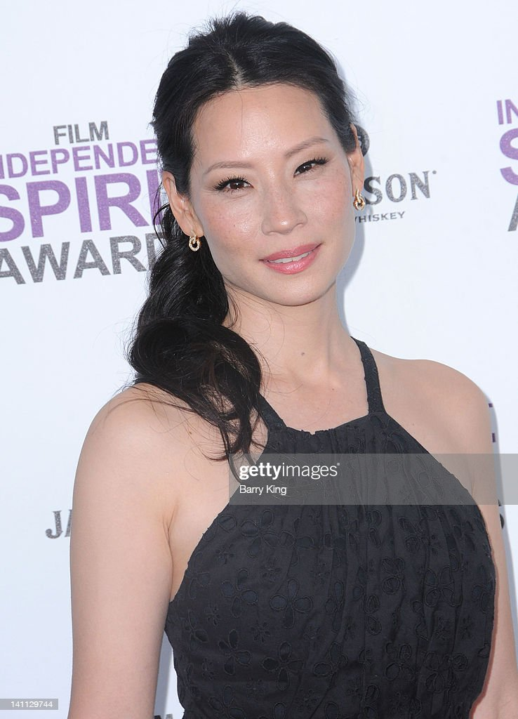 Actress Lucy Liu arrives at the 2012 Film Independent Spirit Awards at Santa Monica Pier on February 25, 2012 in Santa Monica, California.