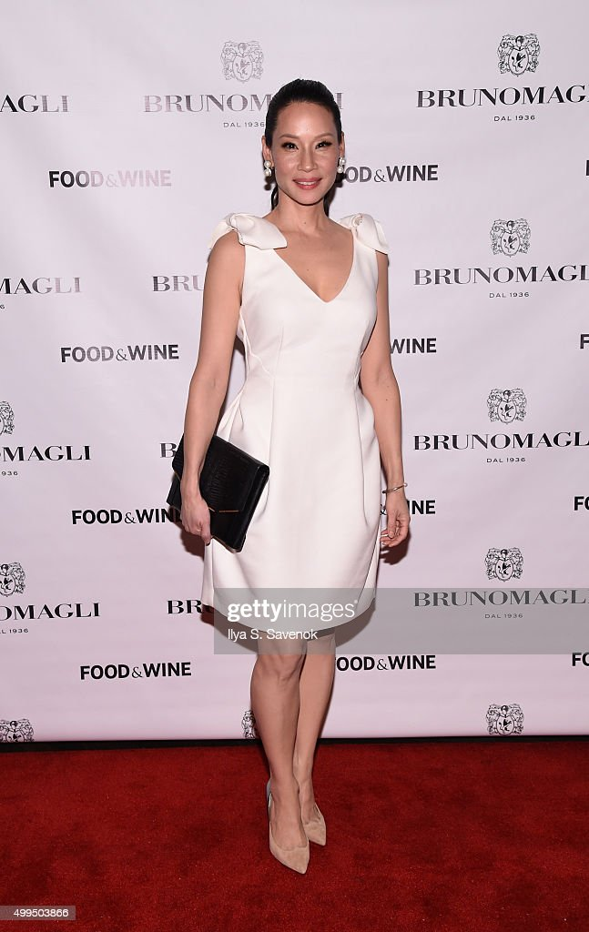 Actress Lucy Liu attends Bruno Magli Presents A Taste Of Italy CoHosted By Food Wine Scott Conant on December 1 2015 in New York City