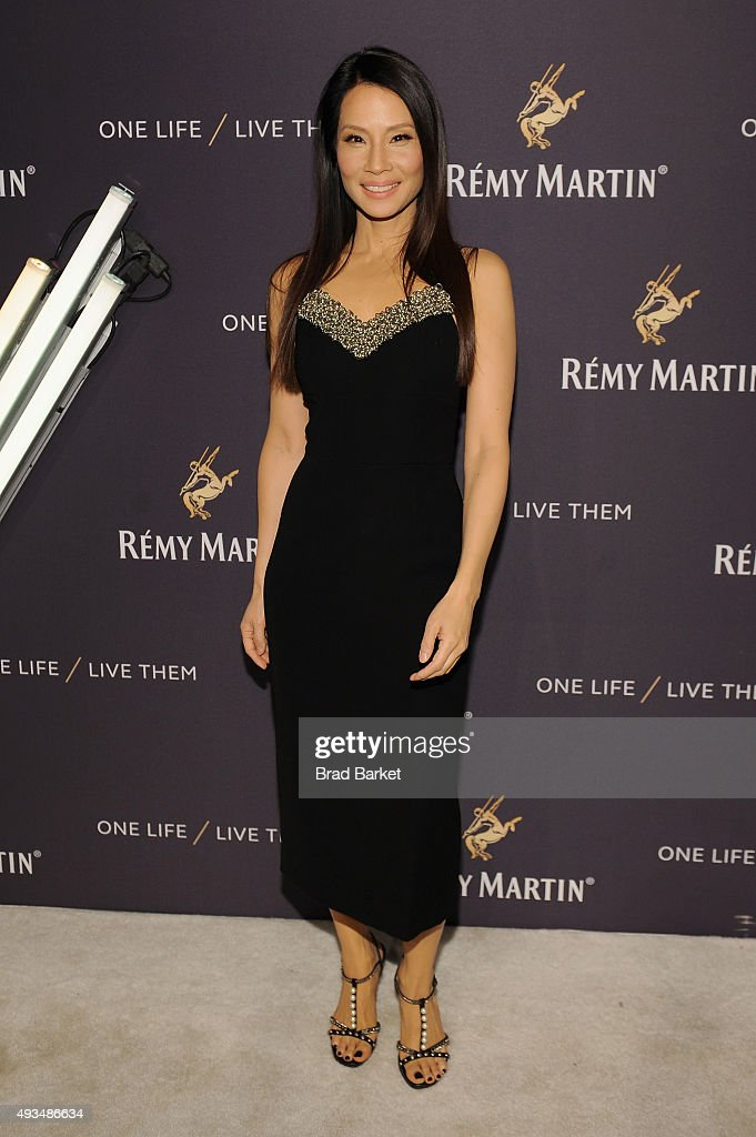 Actress <a gi-track='captionPersonalityLinkClicked' href=/galleries/search?phrase=Lucy+Liu&family=editorial&specificpeople=201874 ng-click='$event.stopPropagation()'>Lucy Liu</a> attends One Life/Live Them presented by Remy Martin and Jeremy Renner on October 20, 2015 in New York City.