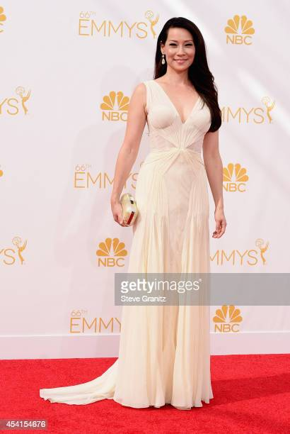 Actress Lucy Liu attends the 66th Annual Primetime Emmy Awards held at Nokia Theatre LA Live on August 25 2014 in Los Angeles California