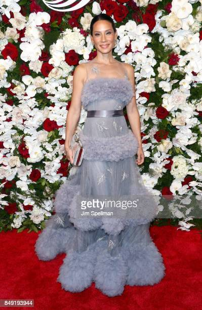 Actress Lucy Liu attends The American Theatre Wing's Centennial Gala at Cipriani 42nd Street on September 18 2017 in New York City
