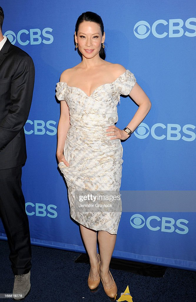 Actress Lucy Liu attends the CBS 2013 Upfront Presentation at The Tent at Lincoln Center on May 15, 2013 in New York City.