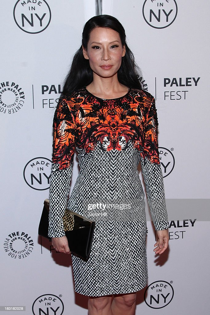 Actress <a gi-track='captionPersonalityLinkClicked' href=/galleries/search?phrase=Lucy+Liu&family=editorial&specificpeople=201874 ng-click='$event.stopPropagation()'>Lucy Liu</a> attends the 'Elementary' panel during 2013 PaleyFest: Made In New York at The Paley Center for Media on October 5, 2013 in New York City.