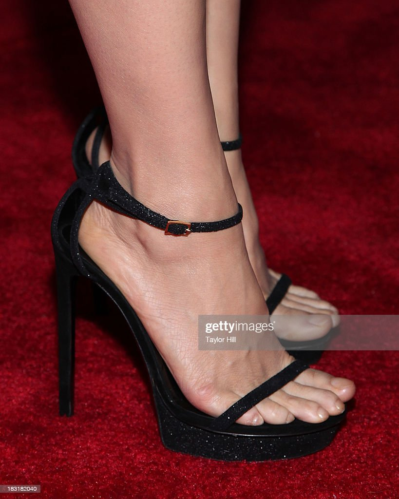 Actress <a gi-track='captionPersonalityLinkClicked' href=/galleries/search?phrase=Lucy+Liu&family=editorial&specificpeople=201874 ng-click='$event.stopPropagation()'>Lucy Liu</a> (shoe detail) attends the 'Elementary' panel during 2013 PaleyFest: Made In New York at The Paley Center for Media on October 5, 2013 in New York City.