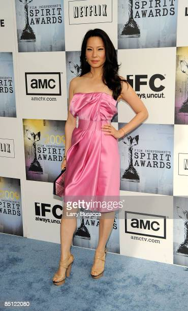 Actress Lucy Liu attends the Lacoste Lounge at Film Independent's 2009 Independent Spirit Awards held at the Santa Monica Pier on February 21 2009 in...