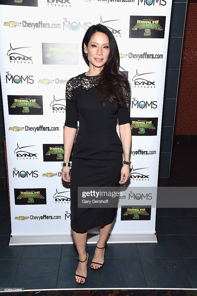 Actress <a gi-track='captionPersonalityLinkClicked' href=/galleries/search?phrase=Lucy+Liu&family=editorial&specificpeople=201874 ng-click='$event.stopPropagation()'>Lucy Liu</a> attends the Moms Mamarazzi 'Kung Fu Panda 3' screening at Regal Union Square Theatre, Stadium 14 on January 26, 2016 in New York City.