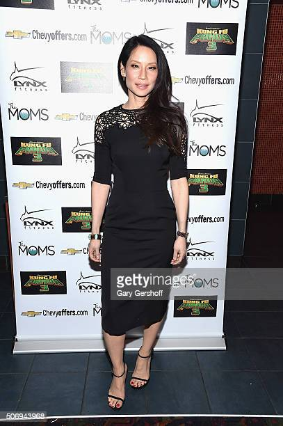 Actress Lucy Liu attends the Moms Mamarazzi 'Kung Fu Panda 3' screening at Regal Union Square Theatre Stadium 14 on January 26 2016 in New York City