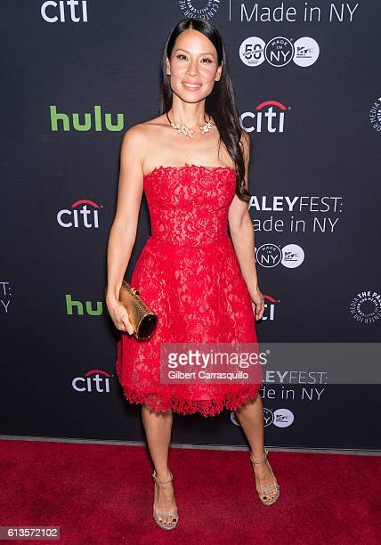 Actress Lucy Liu attends the PaleyFest New York 2016 'Elementary' screening at The Paley Center for Media on October 8 2016 in New York City