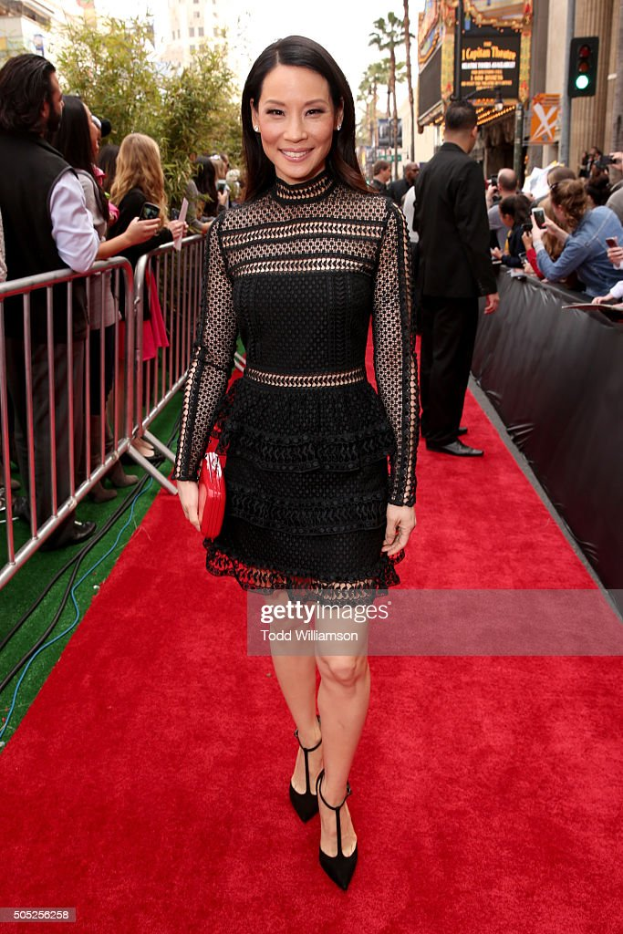 Actress Lucy Liu attends the premiere of DreamWorks Animation and Twentieth Century Fox's 'Kung Fu Panda 3' at the TCL Chinese Theatre on January 16, 2016 in Hollywood, California.