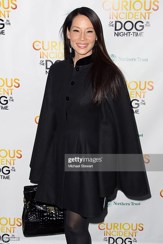 Actress Lucy Liu attends the 'The Curious Incident Of The Dog In The Night-Time' Broadway Opening Night at The Ethel Barrymore Theatre on October 5, 2014 in New York City.