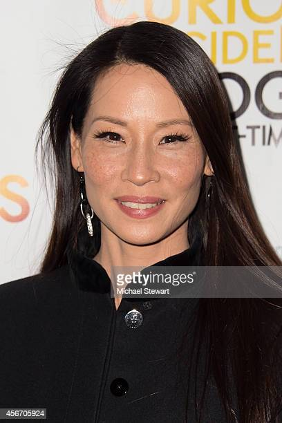 Actress Lucy Liu attends the 'The Curious Incident Of The Dog In The NightTime' Broadway Opening Night at The Ethel Barrymore Theatre on October 5...