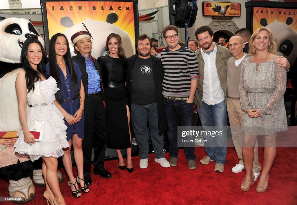 Actress Lucy Liu director Jennifer Yuh Nelson actor James Hong actress Angelina Jolie actor Jack Black actor Seth Rogen actor Danny McBride CEO of...