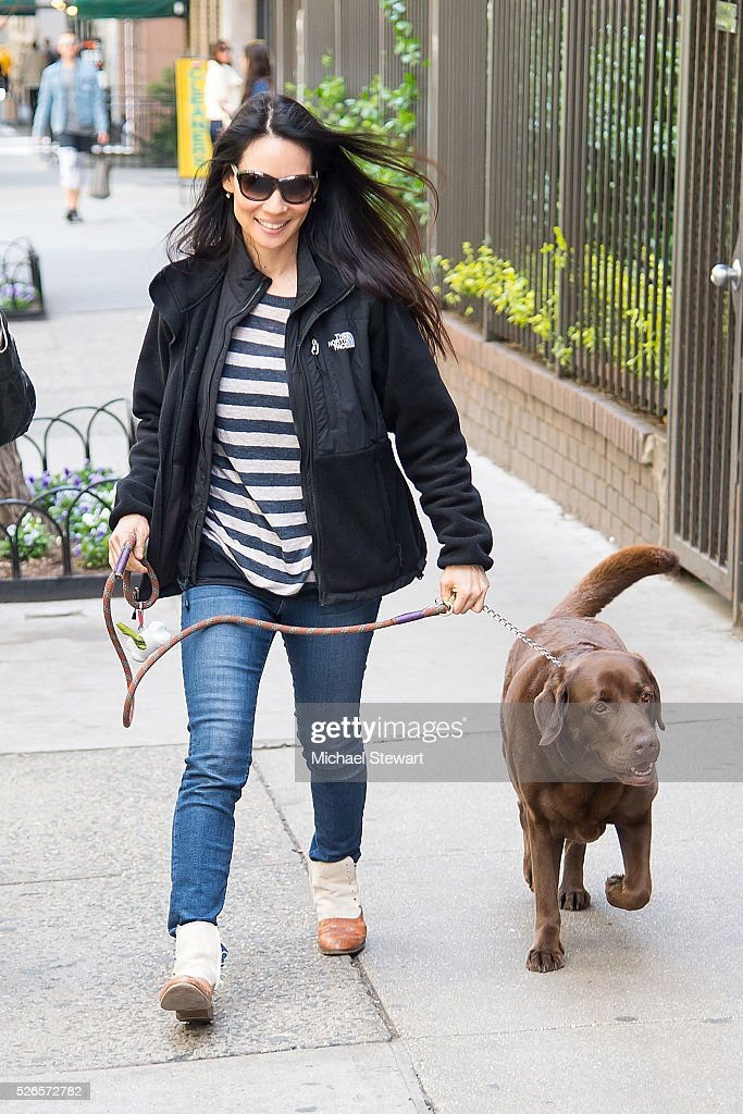 Actress Lucy Liu is seen in the Flatiron District on April 30, 2016 in New York City.