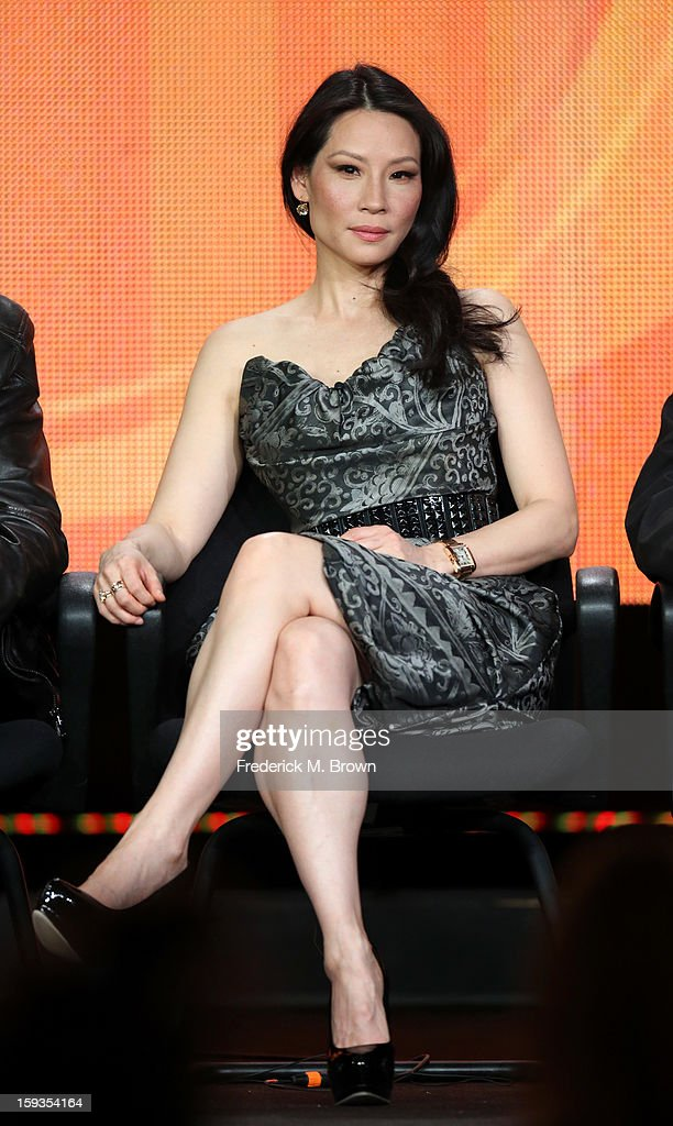 Actress Lucy Liu of 'Elementary' speaks onstage during the CBS portion of the 2013 Winter TCA Tour at Langham Hotel on January 12, 2013 in Pasadena, California.