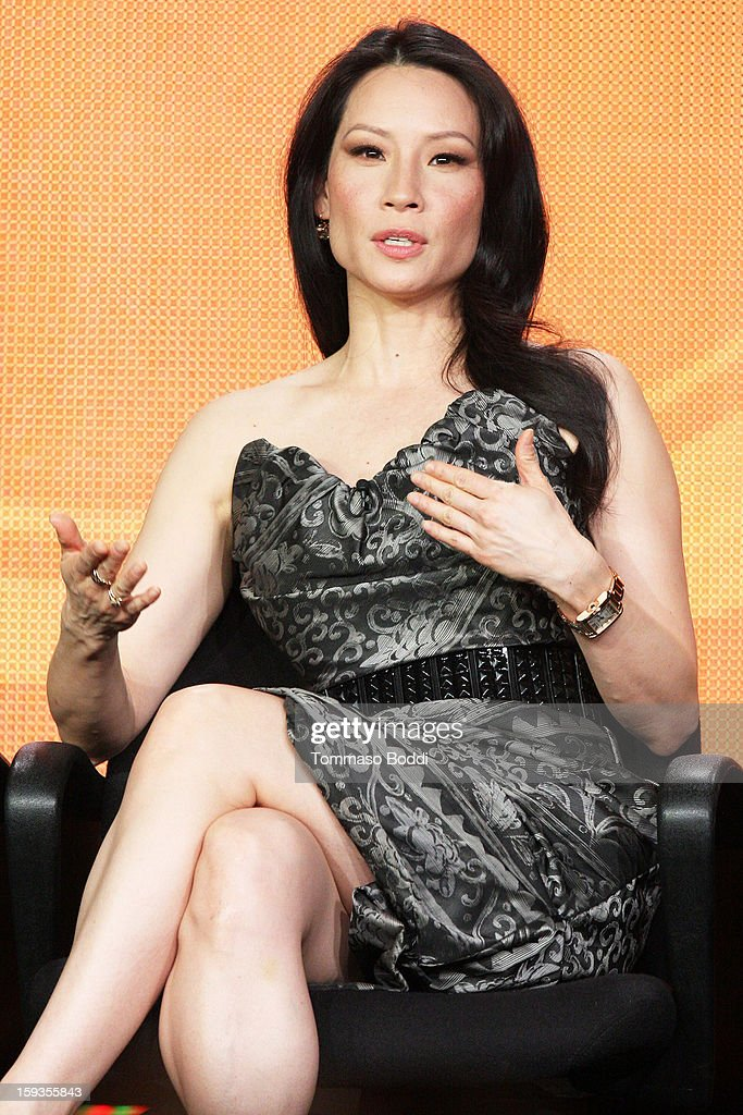 Actress Lucy Liu of the TV show 'Elementary' attends the 2013 TCA Winter Press Tour CW/CBS panel held at The Langham Huntington Hotel and Spa on January 12, 2013 in Pasadena, California.