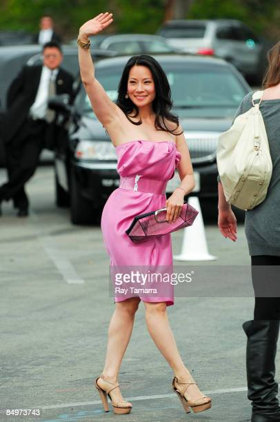 Actress Lucy Liu walks in Santa Monica on February 21 2009 in Santa Monica California