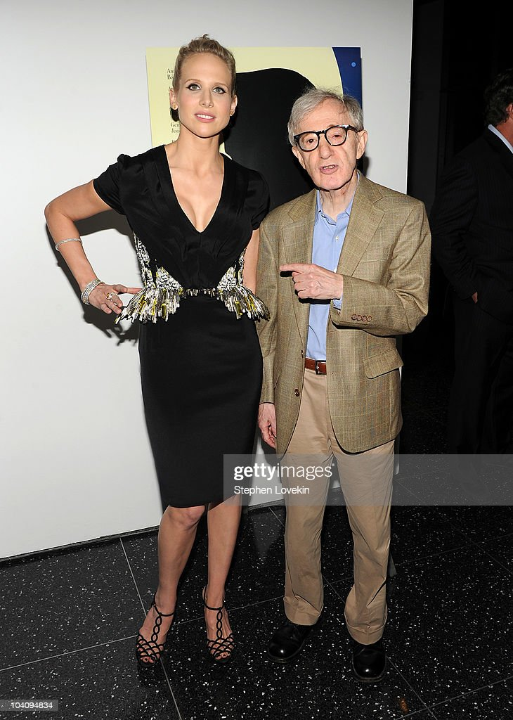 Actress Lucy Punch and director Woody Allen attend the screening of 'You Will Meet a Tall Dark Stranger' hosted by The Cinema Society and BlackBerry...