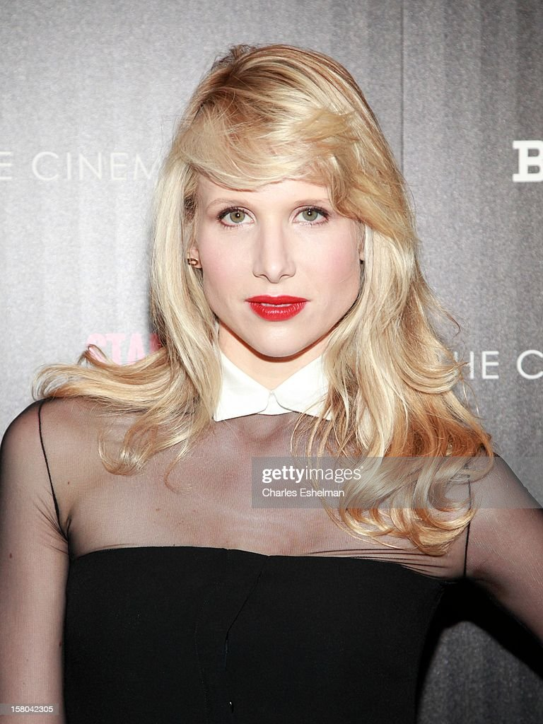 Actress Lucy Punch attends The Cinema Society With Chrysler & Bally Host The Premiere Of 'Stand Up Guys' at The Museum of Modern Art on December 9, 2012 in New York City.