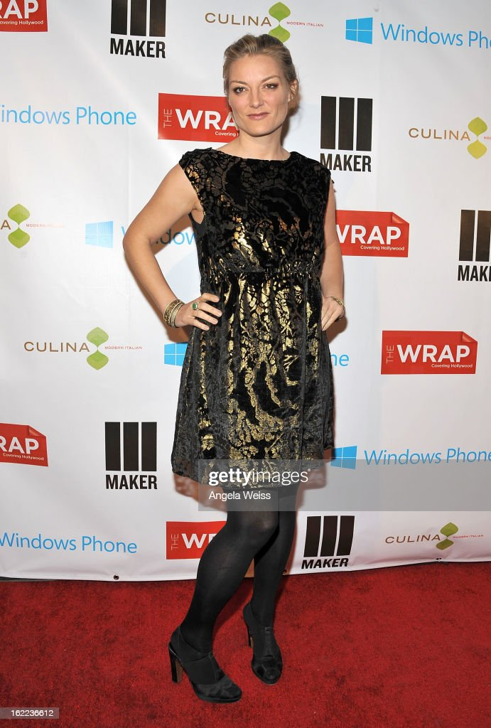 Actress <a gi-track='captionPersonalityLinkClicked' href=/galleries/search?phrase=Lucy+Walker&family=editorial&specificpeople=3079373 ng-click='$event.stopPropagation()'>Lucy Walker</a> arrives at TheWrap 4th Annual Pre-Oscar Party at Four Seasons Hotel Los Angeles at Beverly Hills on February 20, 2013 in Beverly Hills, California.