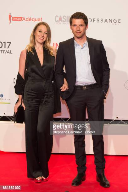 Actress Ludivine Sagnier and actor Pierre Deladonchamps attend the Opening Ceremony of the 9th Film Festival Lumiere on October 14 2017 in Lyon France