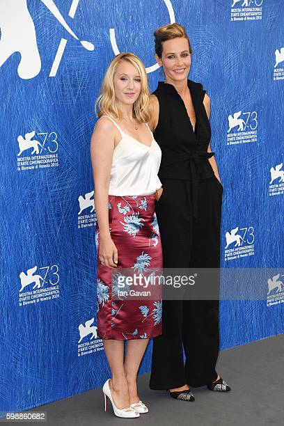Actress Ludivine Sagnier and actress Cécile de France attend the photocall of 'The Young Pope' during the 73rd Venice Film Festival at on September 3...