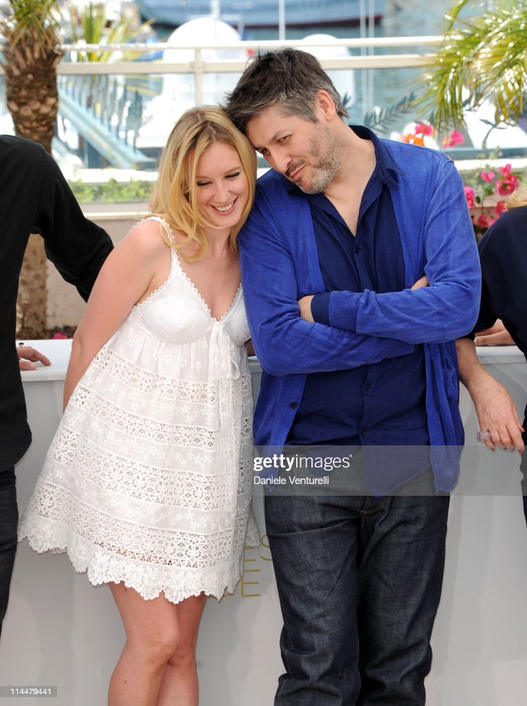 Actress Ludivine Sagnier and director Christophe Honore attend the 'Les BienAimes' Photocall during the 64th Cannes Film Festival at the Palais des...