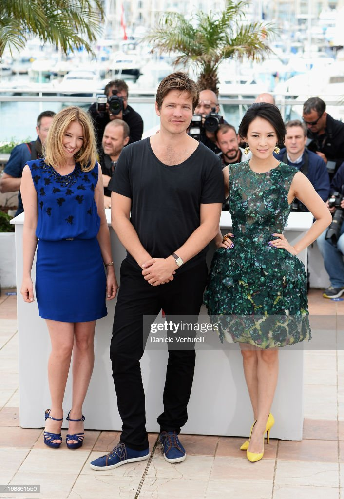Actress Ludivine Sagnier director Thomas Vinterberg and actress Zhang Ziyi attend the photocall for the Jury for the 'Un Certain Regard' competition...