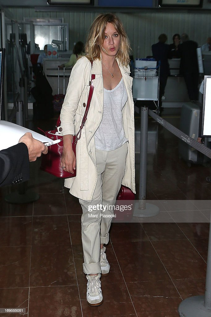Actress Ludivine Sagnier is sighted at Nice airport after the 66th Annual Cannes Film Festival on May 27, 2013 in Nice, France.
