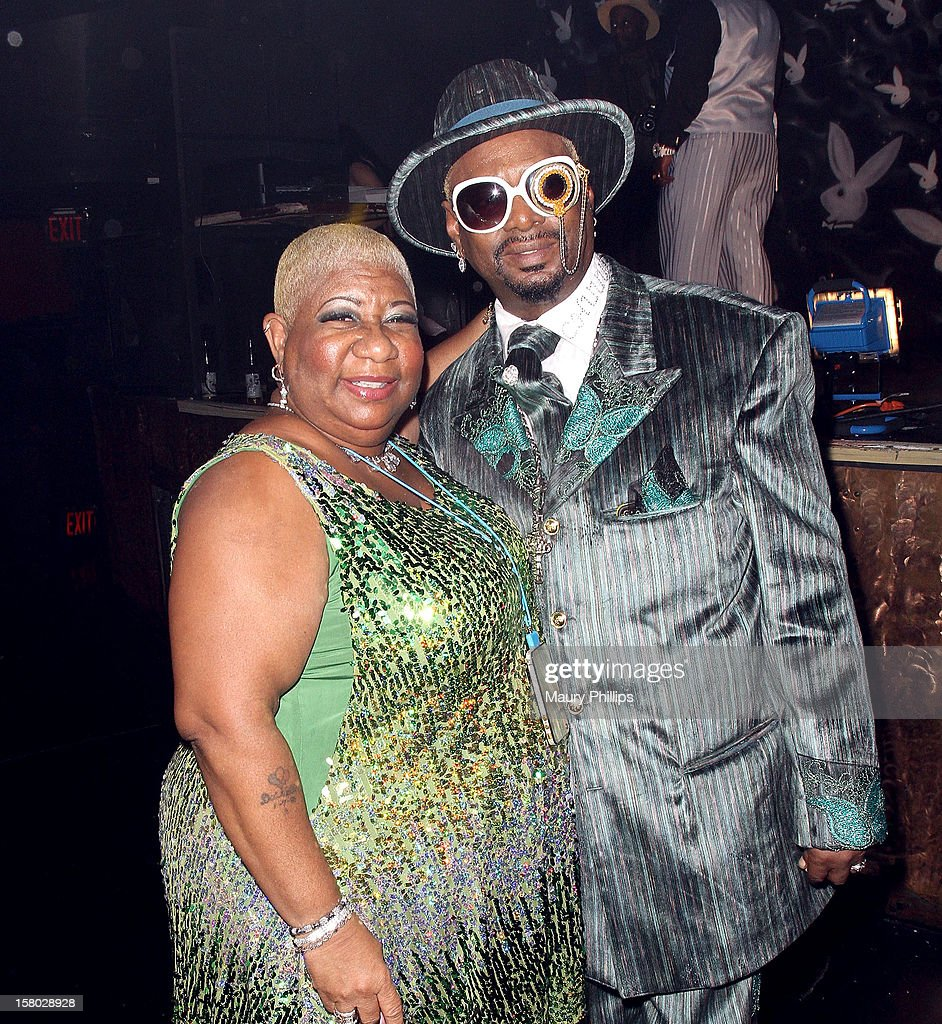 Actress Luenell Campell and Bishop Don 'Magic' Juan attend The Official International Players Ball 2012 and birthday celebration for Arch Bishop Don 'Magic' Juan at Key Club on December 8, 2012 in West Hollywood, California.