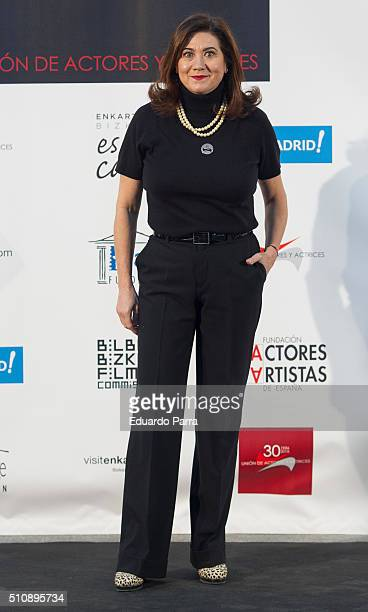 Actress Luisa Martin attends the 'Union de Actorres' awards 25th anniversary at the Cibeles Palace on February 17 2016 in Madrid Spain