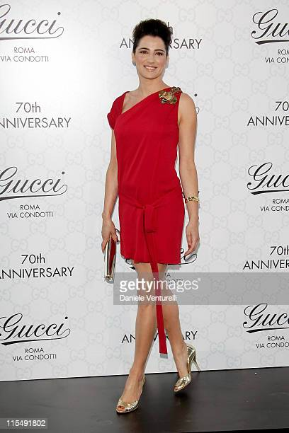 Actress Luisa Ranieri attends Gucci Fashion Show and Party held at Villa Aurelia on July 8 2008 in Rome Italy