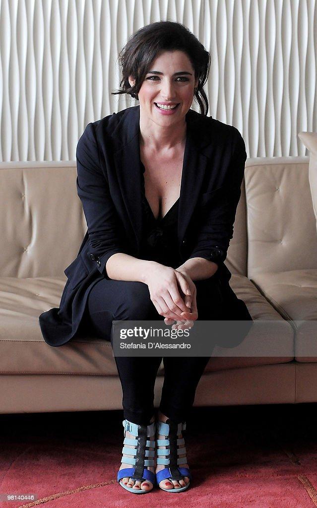 Actress Luisa Ranieri attends 'La Vita E' Una Cosa Meravigliosa' Milan Photocall held at Terrazza Martini on March 30 2010 in Milan Italy