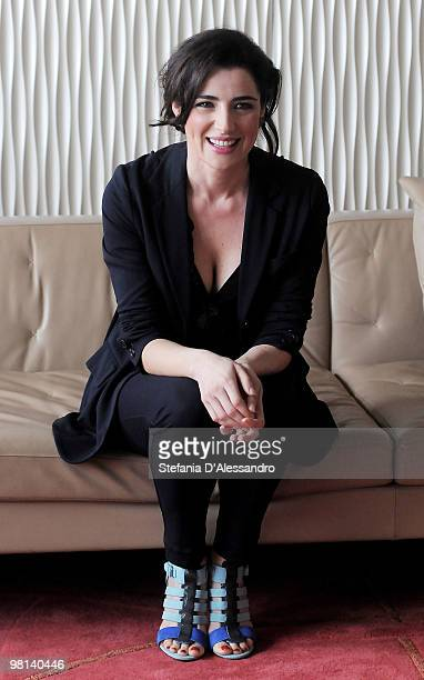 Actress Luisa Ranieri attends 'La Vita E' Una Cosa Meravigliosa' Milan Photocall held at Terrazza Martini on March 30 2010 in Milan Italy