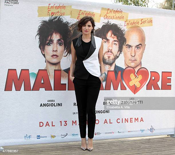 Actress Luisa Ranieri attends 'Maldamore' photocall at Villa Borghese on March 10 2014 in Rome Italy
