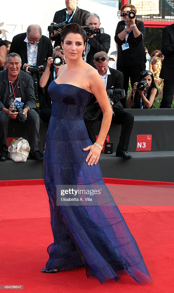 Actress Luisa Ranieri attends the Opening Ceremony and 'Birdman' premiere during the 71st Venice Film Festival on August 27 2014 in Venice Italy