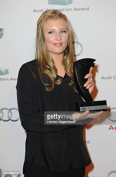 Actress Luna Schweiger attends the Audi Generation Award 2012 at Hotel Bayerischer Hof on October 20 2012 in Munich Germany