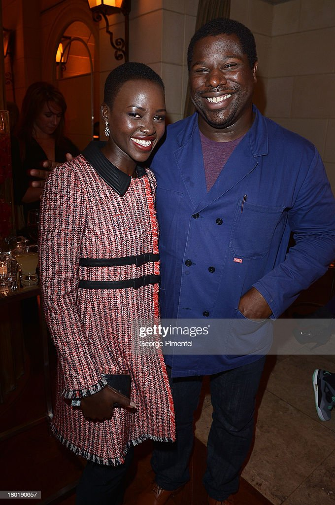 Actress <a gi-track='captionPersonalityLinkClicked' href=/galleries/search?phrase=Lupita+Nyong%27o&family=editorial&specificpeople=10961876 ng-click='$event.stopPropagation()'>Lupita Nyong'o</a> and director Steve McQueen attend InStyle and the Hollywood Foreign Press Association's Annual Toronto International Film Festival Party, hosted by Salvatore Ferragamo on Monday, September 9, 2013 held at the Windsor Arms Hotel in Toronto, Canada.