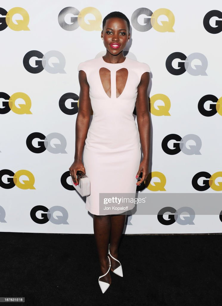 Actress <a gi-track='captionPersonalityLinkClicked' href=/galleries/search?phrase=Lupita+Nyong%27o&family=editorial&specificpeople=10961876 ng-click='$event.stopPropagation()'>Lupita Nyong'o</a> arrives at GQ Celebrates The 2013 'Men Of The Year' at The Wilshire Ebell Theatre on November 12, 2013 in Los Angeles, California.