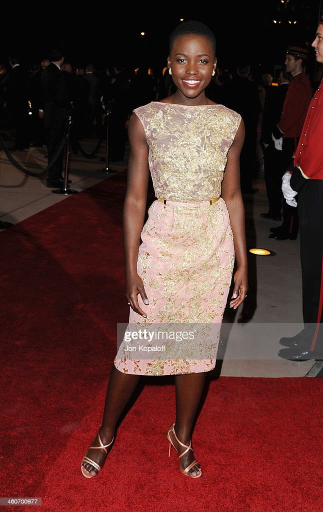 Actress <a gi-track='captionPersonalityLinkClicked' href=/galleries/search?phrase=Lupita+Nyong%27o&family=editorial&specificpeople=10961876 ng-click='$event.stopPropagation()'>Lupita Nyong'o</a> arrives at the 25th Annual Palm Springs International Film Festival Awards Gala at Palm Springs Convention Center on January 4, 2014 in Palm Springs, California.