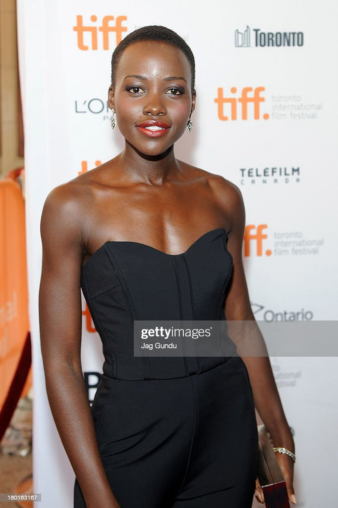 Actress <a gi-track='captionPersonalityLinkClicked' href=/galleries/search?phrase=Lupita+Nyong%27o&family=editorial&specificpeople=10961876 ng-click='$event.stopPropagation()'>Lupita Nyong'o</a> arrives at 'The Invisible Woman' Premiere during the 2013 Toronto International Film Festival at The Elgin on September 9, 2013 in Toronto, Canada.