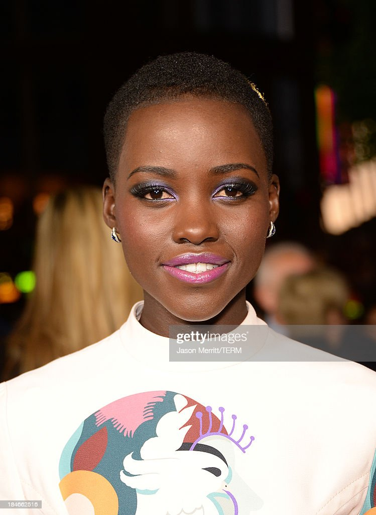 Actress Lupita Nyong'o arrives at the Los Angeles premiere of '12 Years A Slave' at Directors Guild Of America on October 14, 2013 in Los Angeles, California.