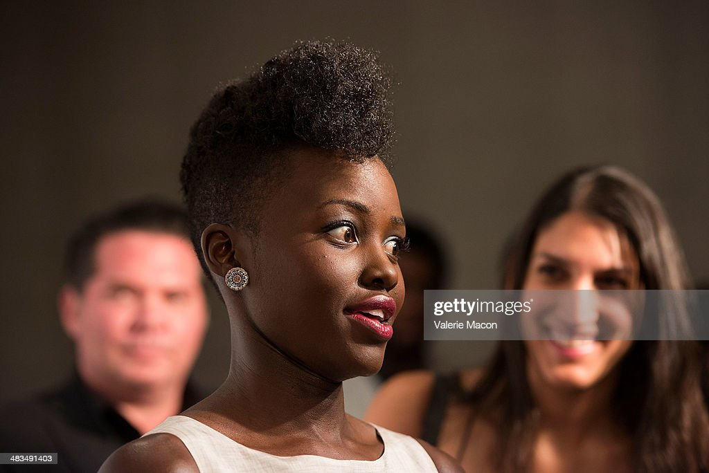 Actress <a gi-track='captionPersonalityLinkClicked' href=/galleries/search?phrase=Lupita+Nyong%27o&family=editorial&specificpeople=10961876 ng-click='$event.stopPropagation()'>Lupita Nyong'o</a> arrives at the Marie Claire's Fresh Faces Party at Soho House on April 8, 2014 in West Hollywood, California.