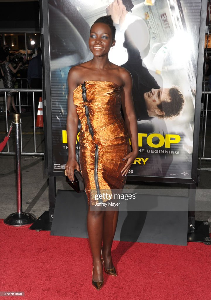 Actress <a gi-track='captionPersonalityLinkClicked' href=/galleries/search?phrase=Lupita+Nyong%27o&family=editorial&specificpeople=10961876 ng-click='$event.stopPropagation()'>Lupita Nyong'o</a> arrives at the 'Non-Stop' at Regency Village Theatre on February 24, 2014 in Westwood, California.
