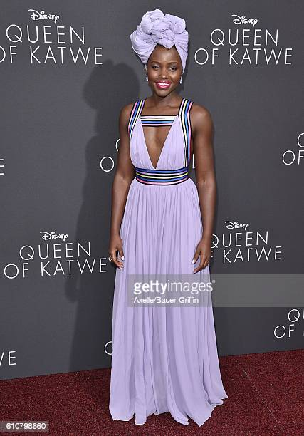 Actress Lupita Nyong'o arrives at the premiere of Disney's 'Queen of Katwe' at the El Capitan Theatre on September 20 2016 in Hollywood California