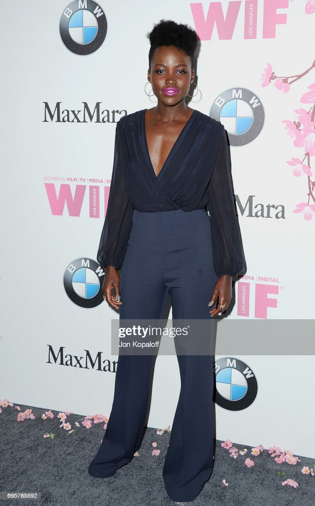 Actress Lupita Nyong'o arrives at the Women In Film 2017 Crystal + Lucy Awards Presented By Max Mara And BMW at The Beverly Hilton Hotel on June 13, 2017 in Beverly Hills, California.