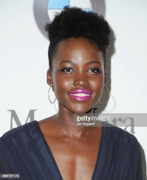 Actress Lupita Nyong'o arrives at the Women In Film 2017 Crystal Lucy Awards Presented By Max Mara And BMW at The Beverly Hilton Hotel on June 13...