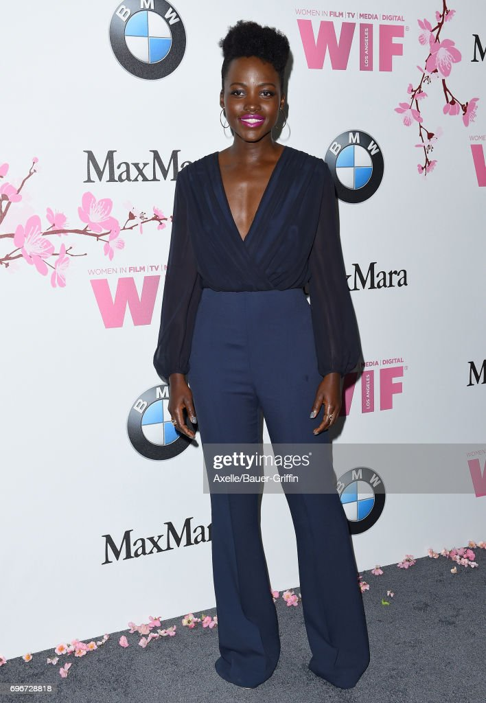 Actress Lupita Nyong'o arrives at Women In Film 2017 Crystal + Lucy Awards at The Beverly Hilton Hotel on June 13, 2017 in Beverly Hills, California.