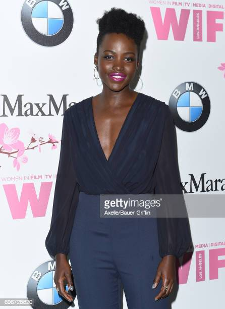 Actress Lupita Nyong'o arrives at Women In Film 2017 Crystal Lucy Awards at The Beverly Hilton Hotel on June 13 2017 in Beverly Hills California